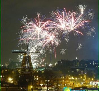 Новый год в Амстердаме - фото. Встреча Нового года в Амстердаме (Нидерланды) 2016