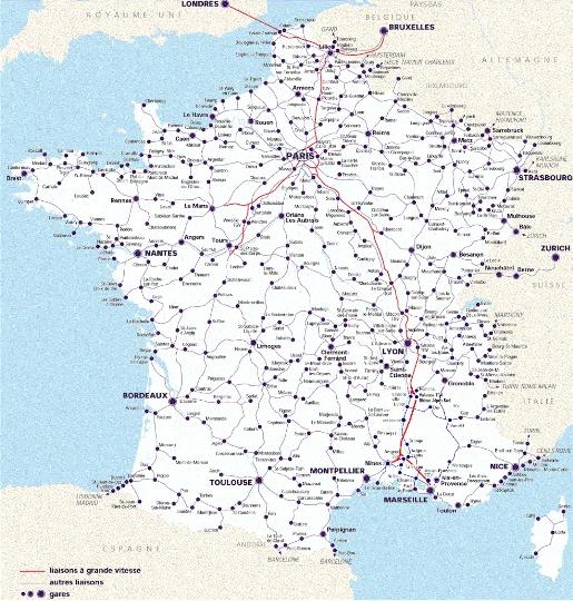 Jarnvagar I Frankrike Karta Plats Foto