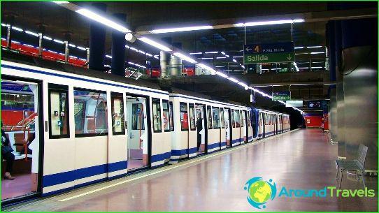 Metro van Madrid: kaart, foto, beschrijving