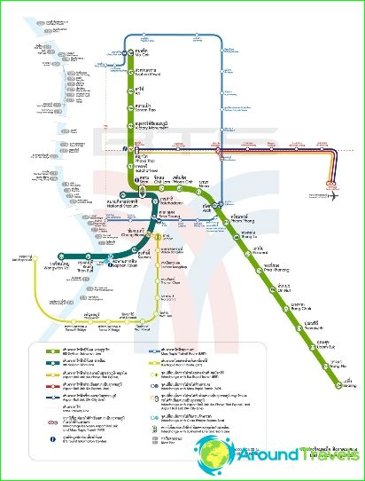 Plan du métro de Bangkok