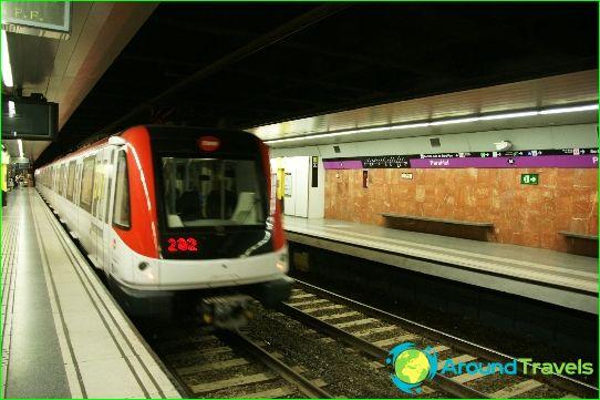 مترو برشلونة: الخريطة ، الصورة ، الوصف
