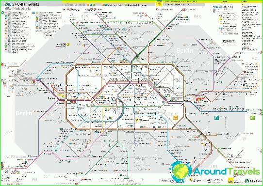 Карта на метрото в Берлин