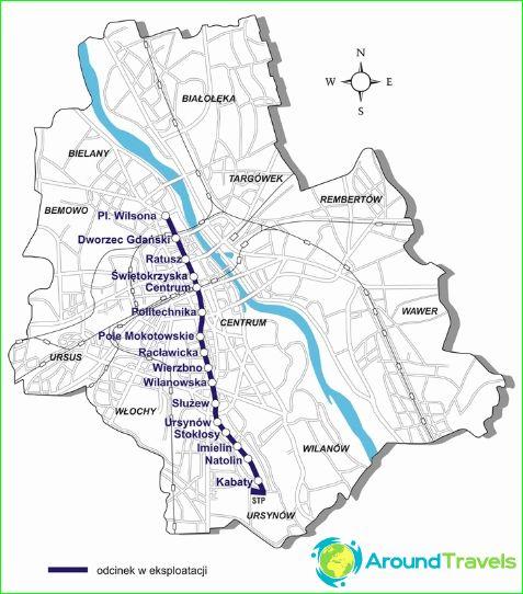 Карта на метрото във Варшава