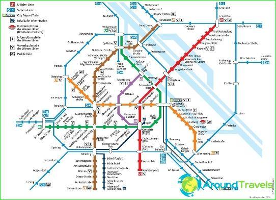 Metrokaart van Wenen