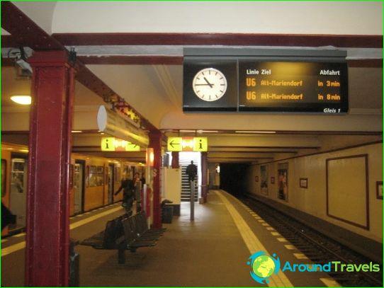 Берлинско метро: карта, снимка, описание