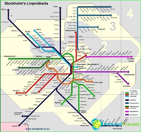 Metrokaart van Stockholm