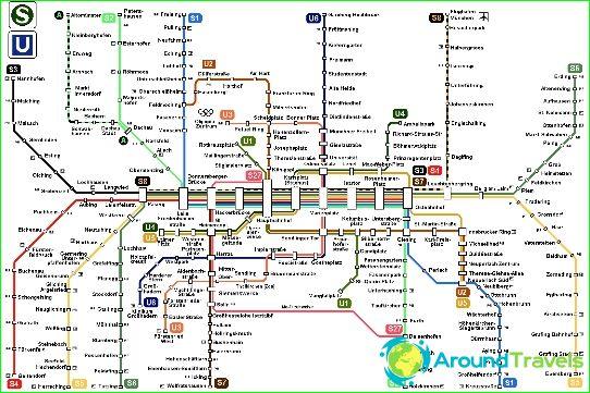 Metrokaart van München
