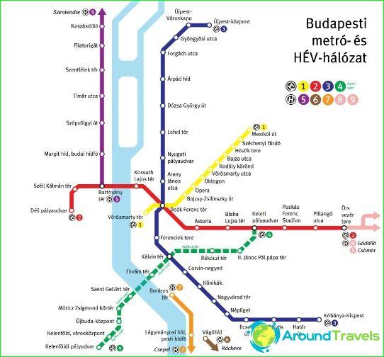 Карта на метрото в Милано