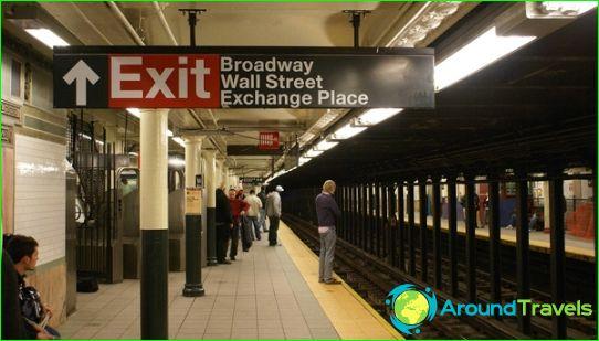 مترو أنفاق نيويورك: الخريطة ، الصورة ، الوصف
