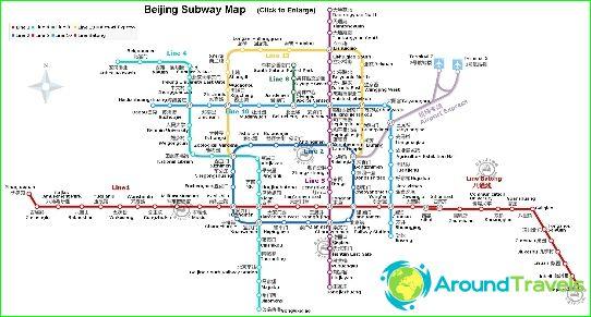 Карта на метрото в Пекин