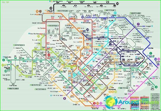 Plan du métro de Singapour