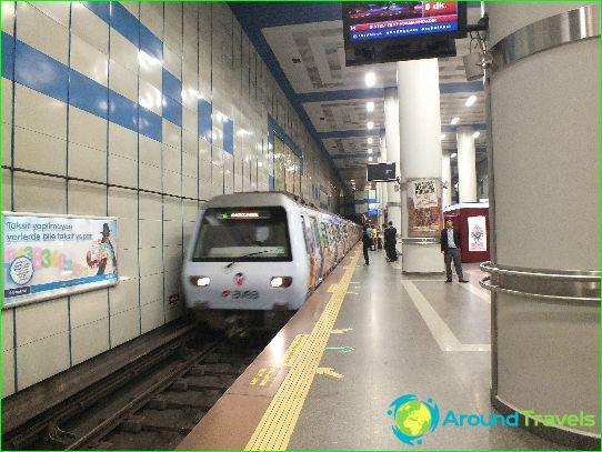 Istanbul Metro: kartta, kuva, kuvaus