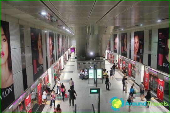 Métro de Singapour: plan, photo, description