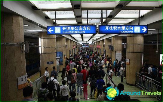 Метро Пекин: карта, снимка, описание