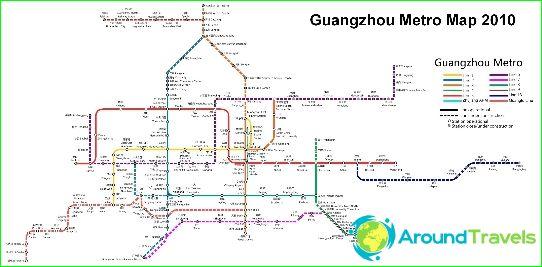 Карта на метрото в Гуанджоу