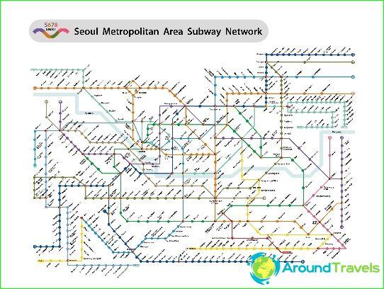 Карта на метрото в Сеул