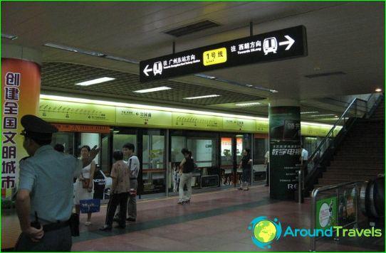 Метро Гуанджоу: карта, описание, снимка