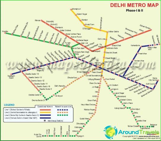 Metrokaart van Delhi