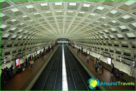Washington Metro: karta, beskrivning, foto