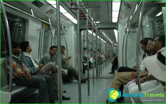 Metro Delhi: kaart, beschrijving, foto