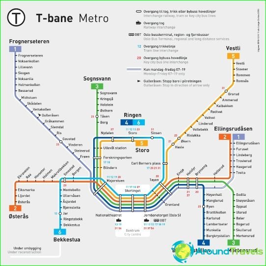 Oslon metrokartta