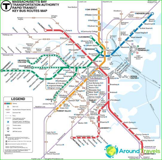 Metro Boston: kaart, beschrijving, foto