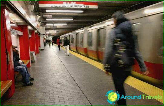 Métro de Boston: plan, description, photo