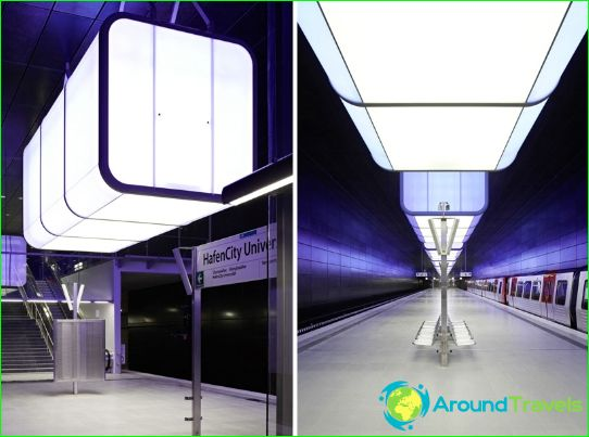 Hampurin metro: kartta, kuvaus, valokuva
