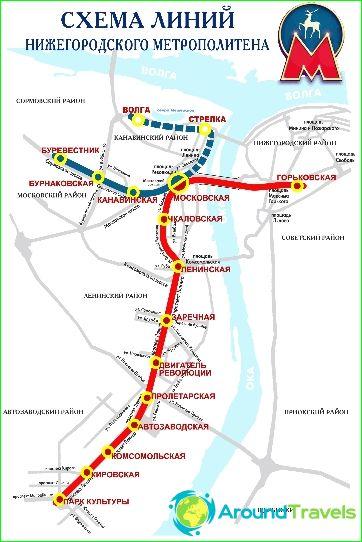 Metro Nizhny Novgorod: kartta, kuvaus, valokuva