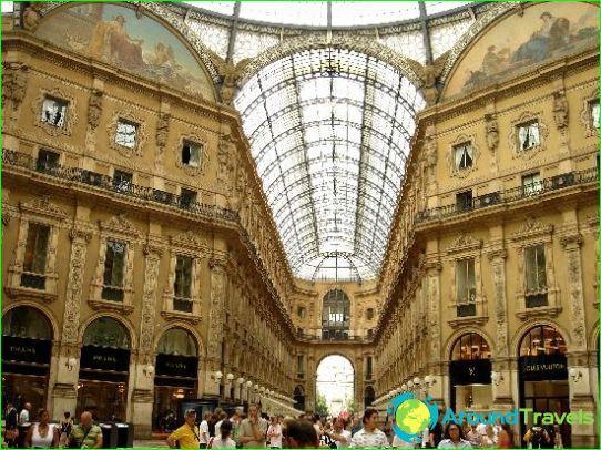 Milanon kauppoja ja putiikkeja