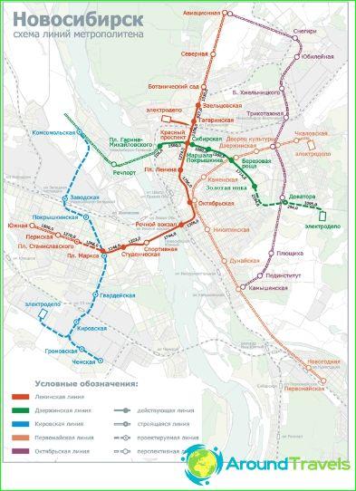 Metro Novosibirsk: kaart, beschrijving, foto