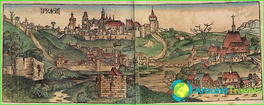 Praha vuonna 1493. Vanha kaiverrus.