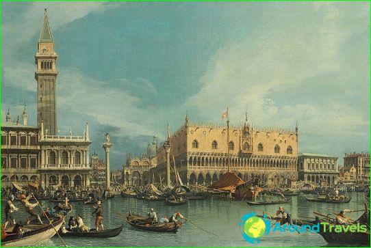 1700-talets Venedig i Canaletto målning