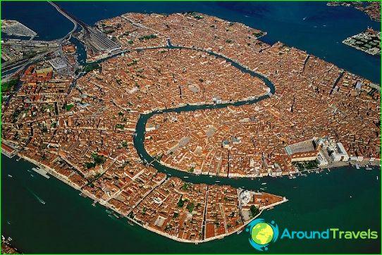 Flygfoto över Venedig