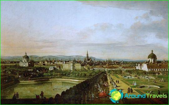 Wien 1800-luvulla - Canaletto -maalaus
