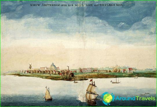 Нов Амстердам през 1664г