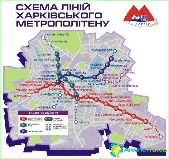 Харковско метро: карта, описание, снимка