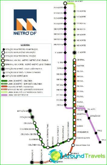 Metro Brasilia: kartta, kuvaus, valokuva