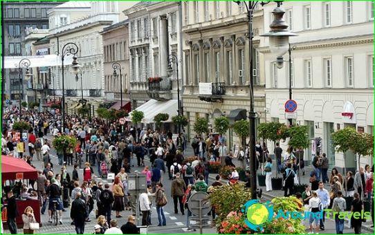 Kaupat ja ostoskeskukset Varsovassa