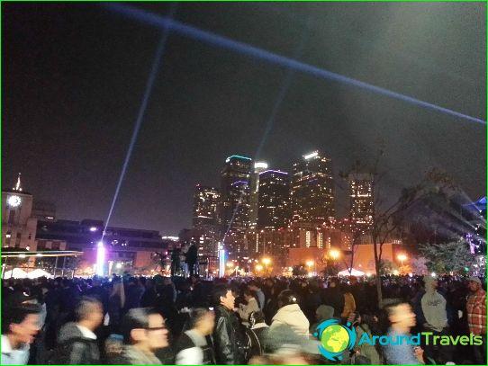 Uusi vuosi Los Angelesissa