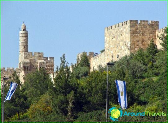 Daavidin torni ja vanhan kaupungin muurit