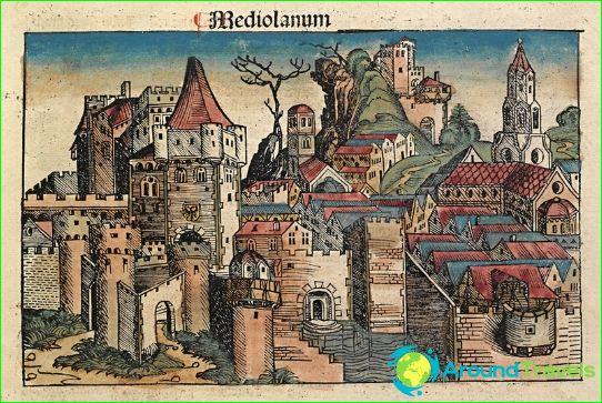 Milaan in 1493 (Nuremberg Chronicles)
