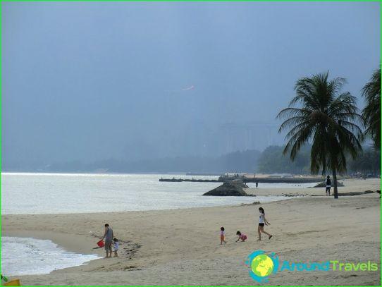 Stranden van Singapore
