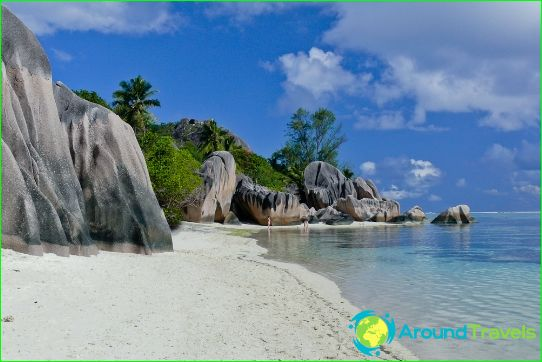 Seychellien rannat