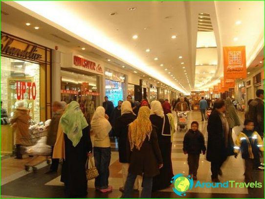 Winkelcentra en markten van Alexandrië