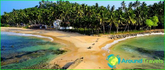 Stranden in Sri Lanka