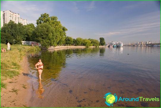 Stranden in Moskou