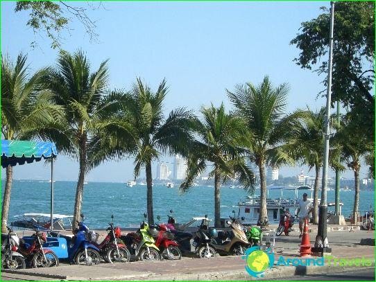 Stranden in Pattaya