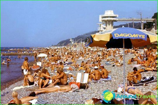 Stranden in Sochi