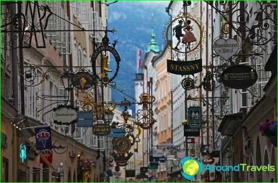 Магазини и търговски центрове на Залцбург
